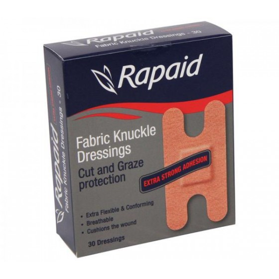 RAPAID FABRIC KNUCKLE DRESSINGS - BOX 30'S