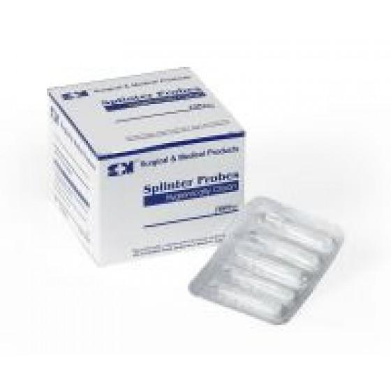 SPLINTER PROBE - STRIP OF 5   -    4CM HYGIENICALLY CLEAN