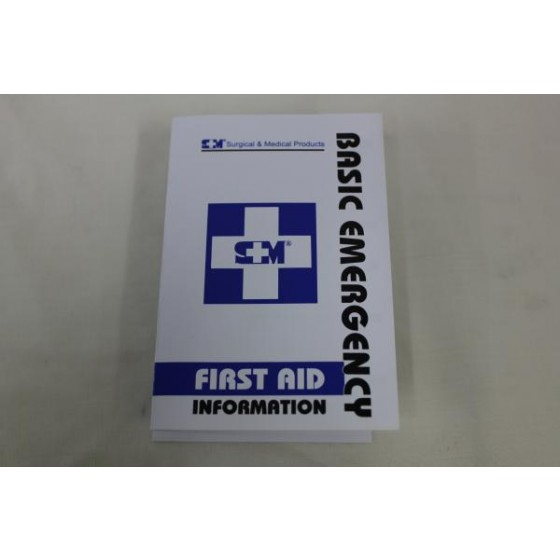 FIRST AID INSTRUCTION LEAFLET