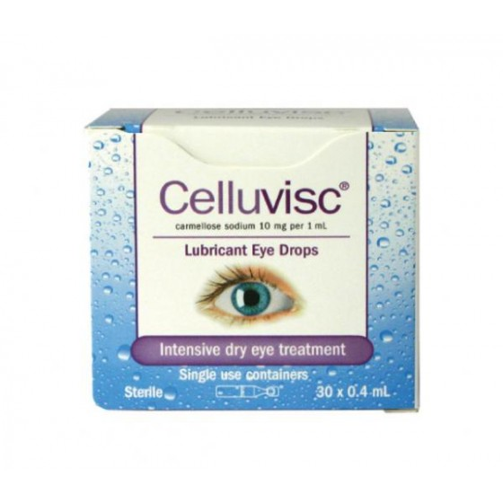 CELLUVISC EYE DROPS - 0.4ML BOX 30
