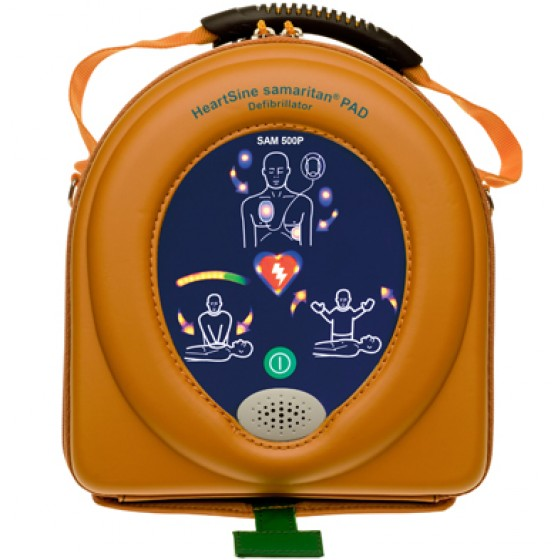 HEARTSINE SAMARITAN  PAD 500P DEFIBRILLATOR AND CASE