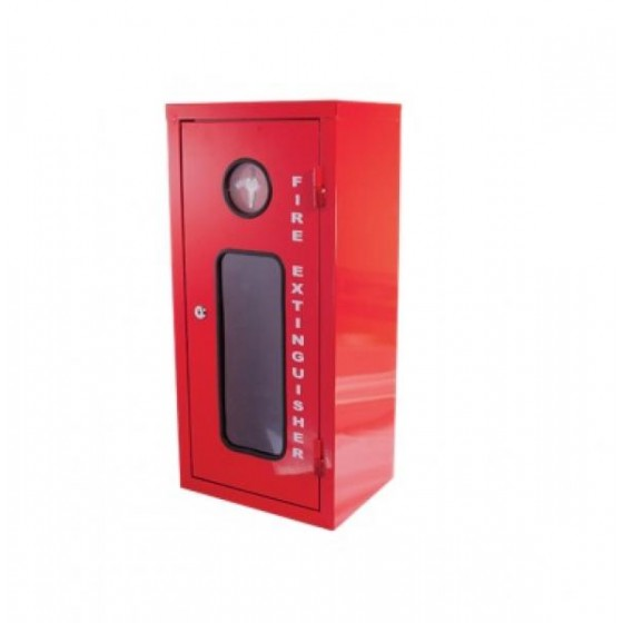 EXTINGUISHER CABINET - GALVANISED METAL- MEDIUM
