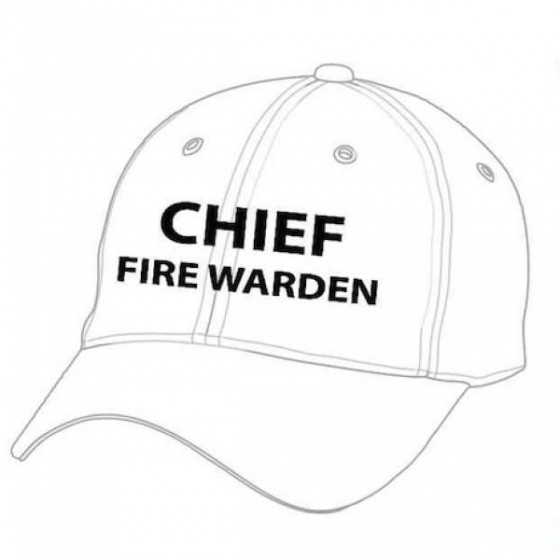 CHIEF FIRE WARDEN CAP