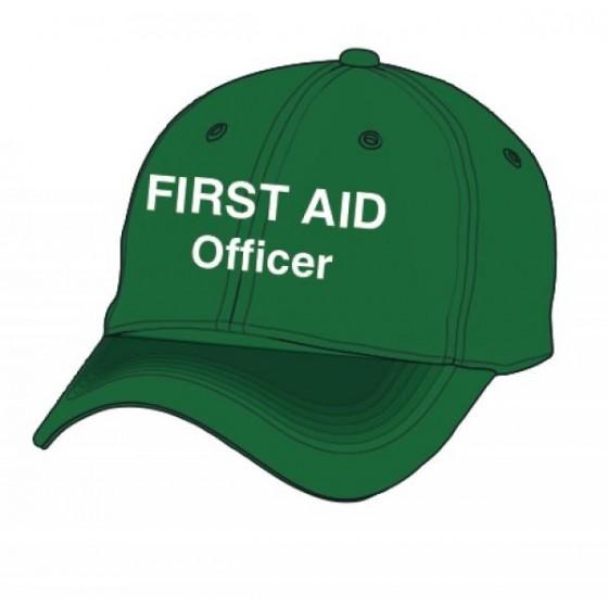 FIRST AID CAP - GREEN