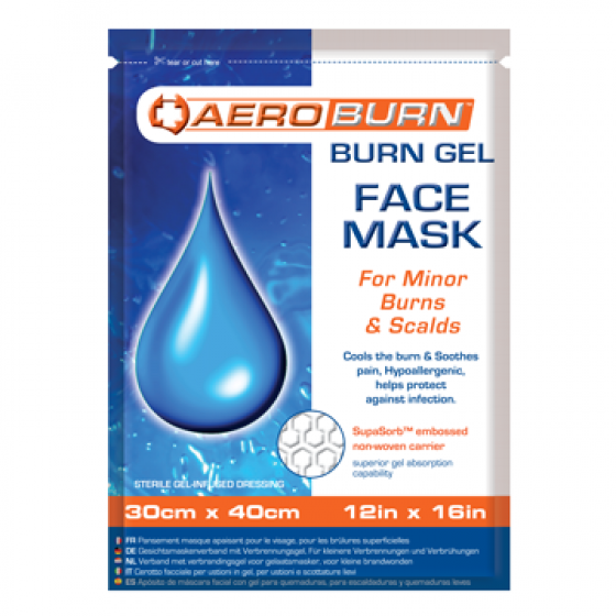 BURN GEL FACE MASK 30cm x 40cm