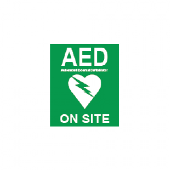 AED ON SITE STICKER