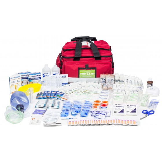 ASSESS 4 - RESPONDER TRAUMA KIT - LRG RED SOFT BAG
