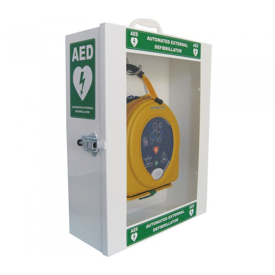 DEFIBRILATOR STEEL WALL CABINET
