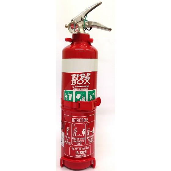1.0KG DCP FIRE EXTINGUISHER C/W NOZZLE & VEHICLE BRACKET