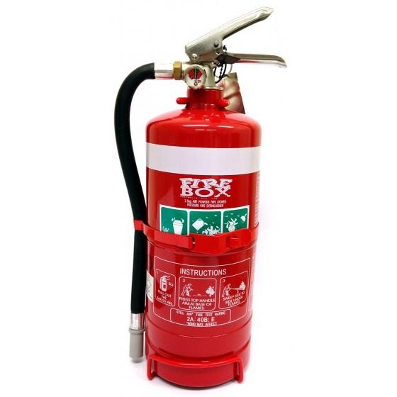 2.5KG DCP FIRE EXTINGUISHER C/W HOSE & VEHICLE BRACKET