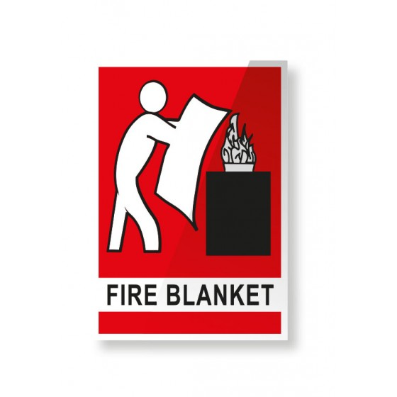 FIRE BLANKET LOCATION SIGN - 150mm X 225mm