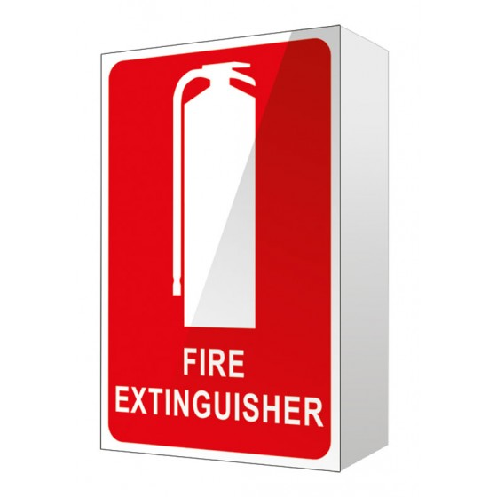 ANGLED FIRE EXTINGUISHER LOCATION SIGN - 150mm X 225mm