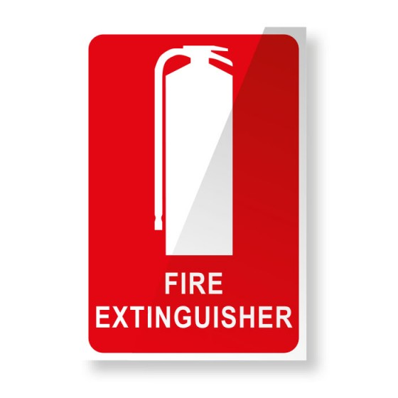 FIRE EXTINGUISHER LOCATION SIGN 150mm X 225mm