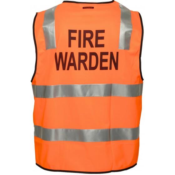 FIRE WARDEN VESTS DAY NIGHT ORANGE