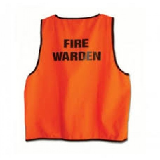 FIRE WARDEN VEST ORANGE