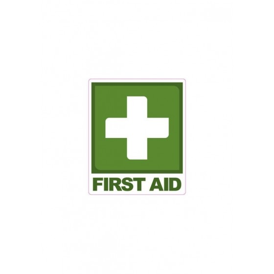 FIRST AID SIGN STICKER 190MM X 160MM