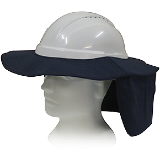 HARD BRIM WITH NECK FLAP