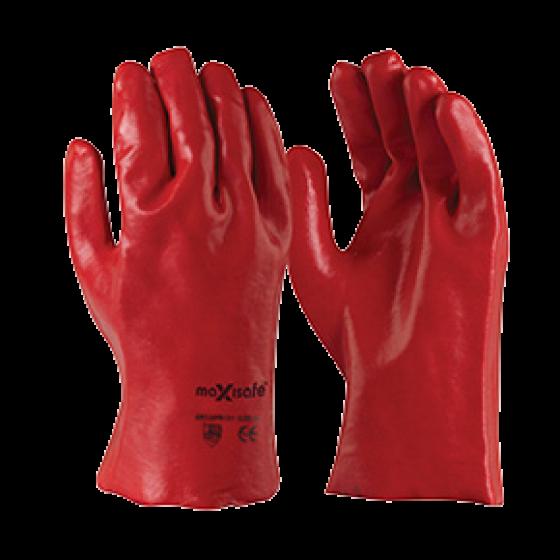 RED PVC 27cm GAUNTLET PKT 12