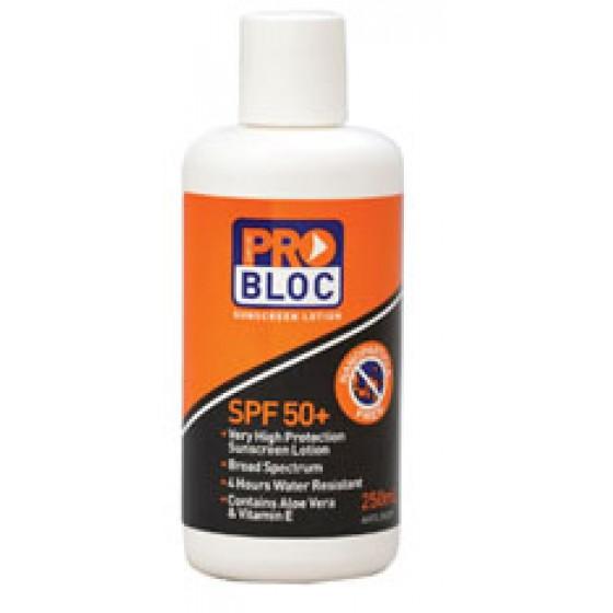 PRO-BLOCK 50+ Sunscreen 250ml bottle