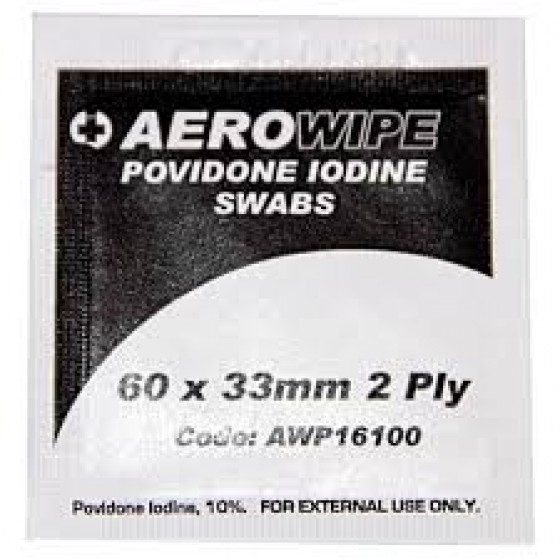 IODINE POVIDINE PACK 5 (60MM X 33MM) SWABS