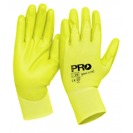 PRO LIGHT HI VIS YELLOW GLOVES CNT 120