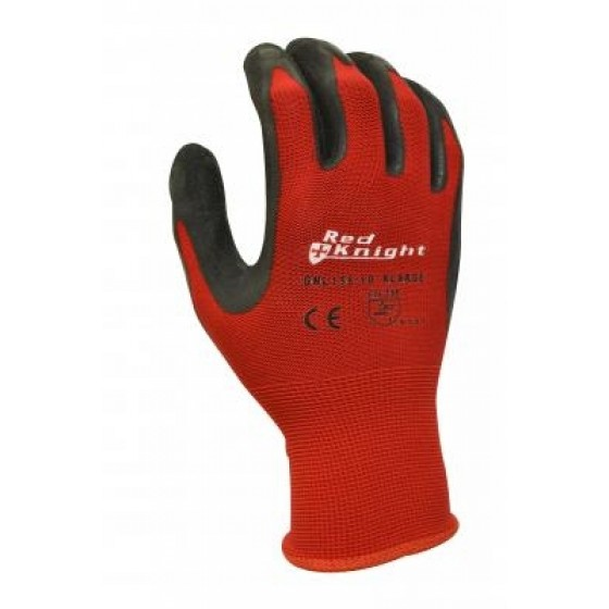 RED KNIGHT Nylon Latex Dip Glove