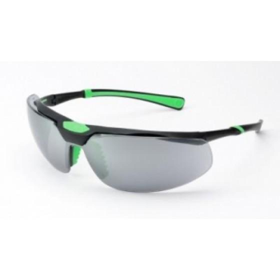 UNIVET ITALIAN SAFETY GLASSES - BLACK GREEN (SMOKED)