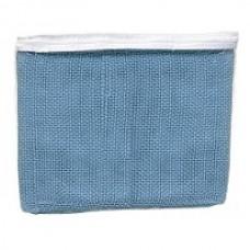 BLANKET, CELLULAR 100% COTTON, SINGLE BED, BLUE