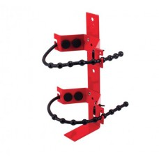 RED POWDER COATED ADJ RUBBER STRAP BRACKET - FITS UP TO 9.0KG