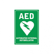 AED WALL SIGN STICKER
