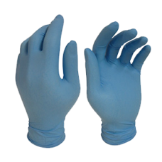 'BLUE SHIELD' Nitrile Disposable Gloves Box 100