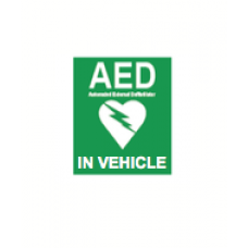 AED IN VECHILE STICKER