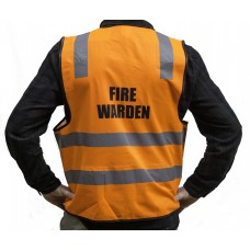 FIRE WARDEN VESTS DAY NIGHT ORANGE