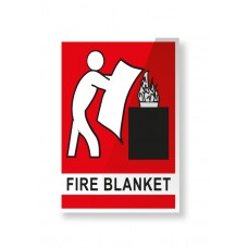 LOCATION SIGN FOR FIRE BLANKET  - 150mm X 225mm