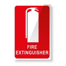 LOCATION SIGN FOR FIRE EXTINGUISHER 150mm X 225mm SELF ADHESIVE