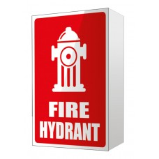 ANGLED FIRE HYDRANT LOCATION SIGN - 150MM X 225MM