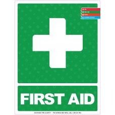 FIRST AID SIGN 400mm x 300mm