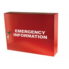 EMERGENCY INFORMATION CABINET - 600MM X 500MM X 150MM DEEP