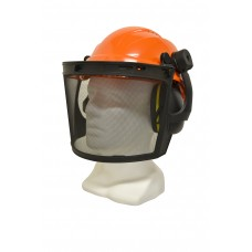 HELMET, MUFF AND MESH VISOR ASSEMBLY ( ROCKMAN MESH VISOR ASSEMBLY )