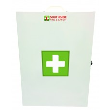 FIRST AID CASING - X LARGE METAL BOX (610 X 410 X 180mm)