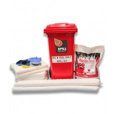 OIL AND PETROLEUM 120L WHEELIE BIN SPILL KIT