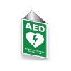 AED WALL SIGN ANGLED