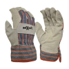 LEATHER PALM CANDY STRIPE GLOVE